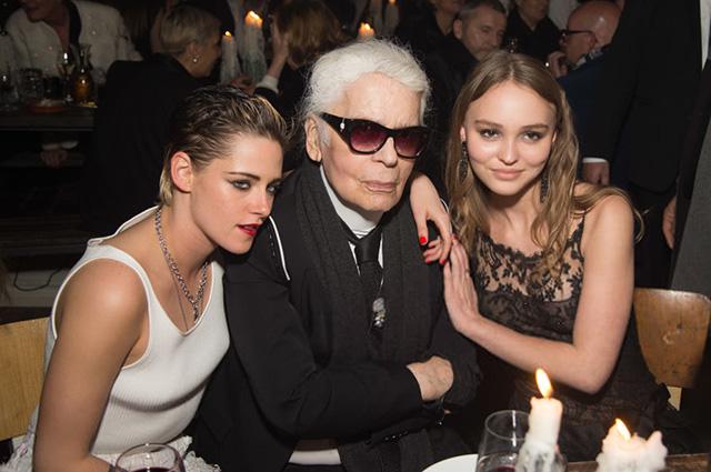Kristen Stewart, Karl Lagerfeld, Lily-Rose Depp