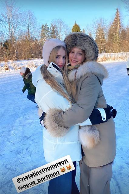 Дочь Натальи Водяновой Нева с Натальей Томпсон