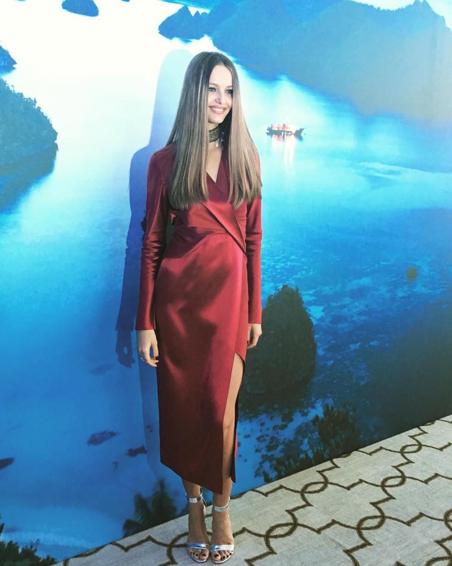 Girlfriend of Vladislav Doronin Kristina Romanova appeared in public after giving birth