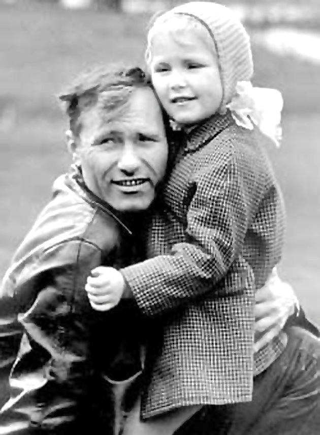 Masha Shukshina with her father