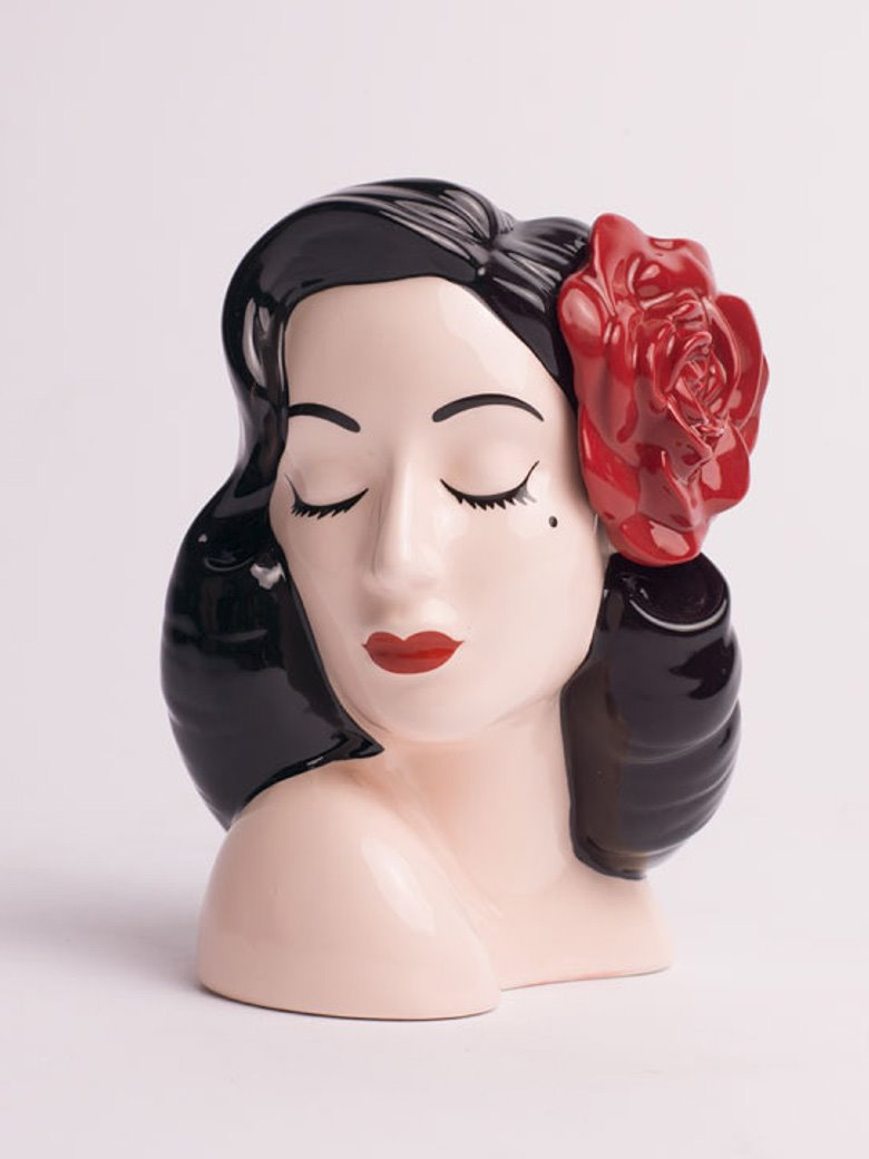 Red Rose Glamor Girl Vase