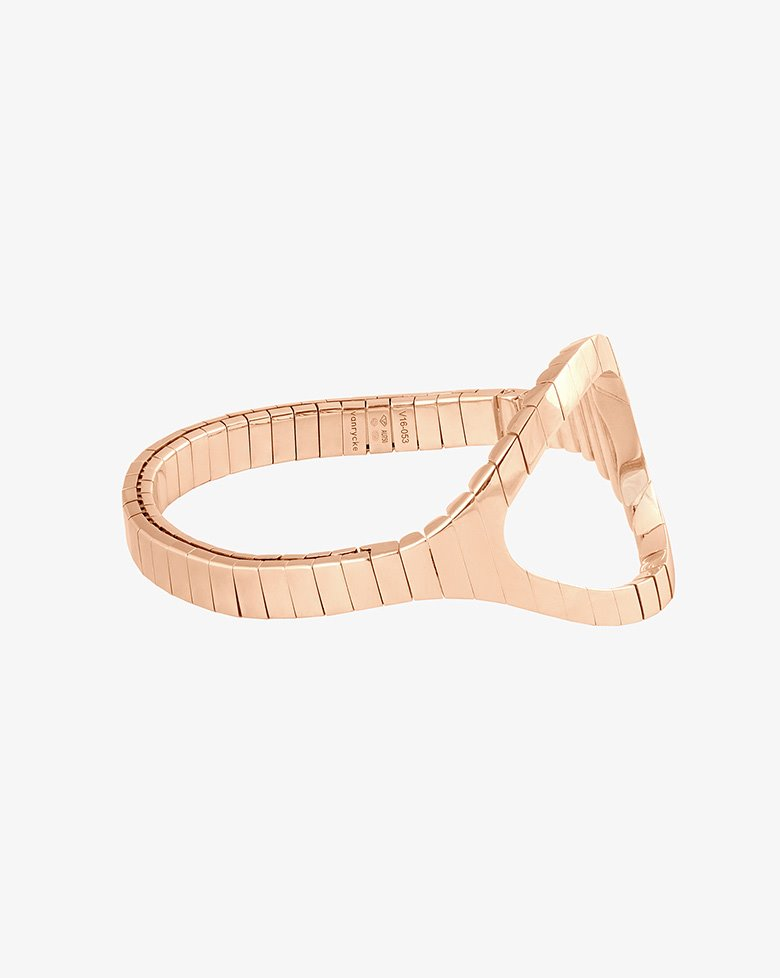 Bracelet in 18-carat pink gold weighing 38.5 g with 2.81 carat diamond from the collection of Styloïde Vanrycke