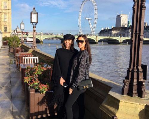 Irina Shayk was photographed against the backdrop of the London Eye