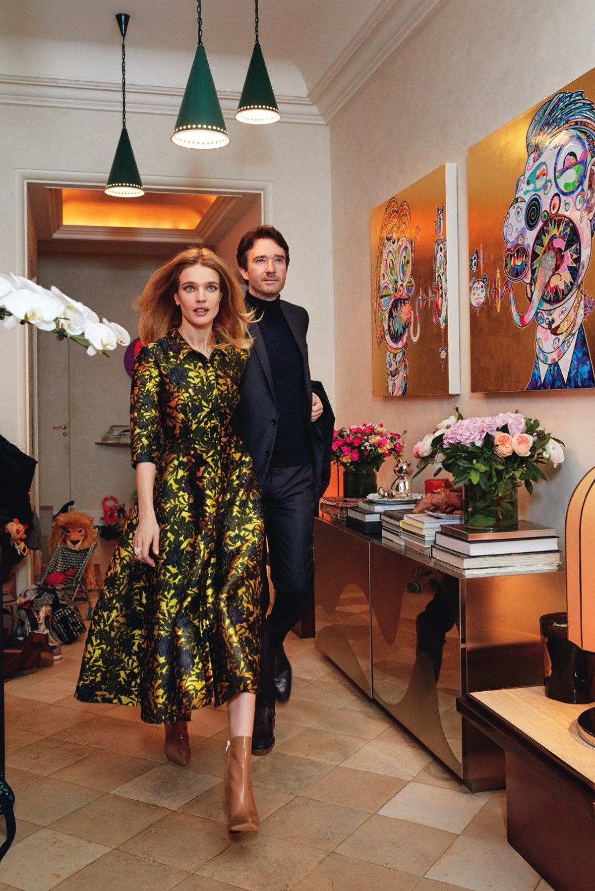 Natalia Vodianov's  luxury apartments in Paris