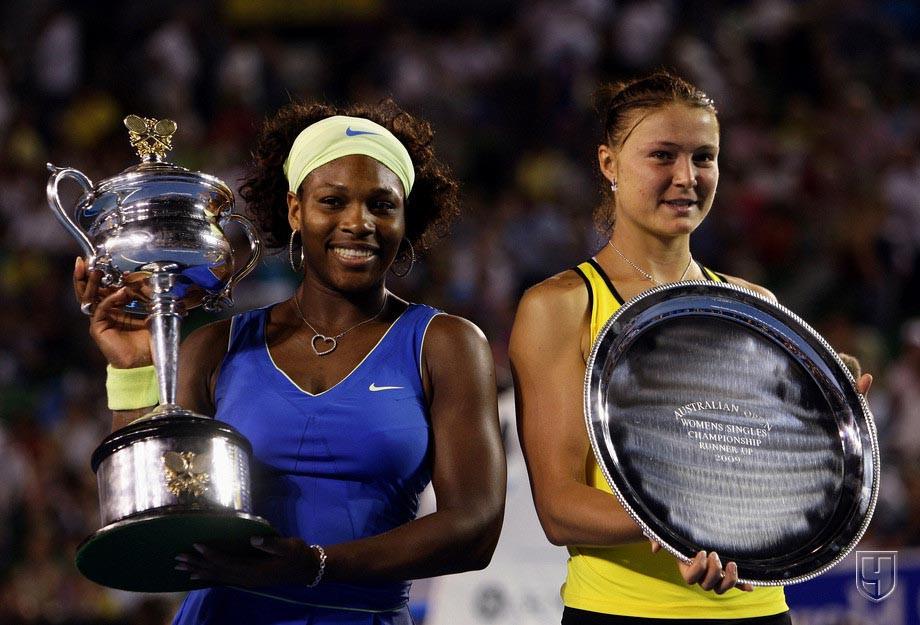 Серена Уильямс и Динара Сафина на Australian Open-2009