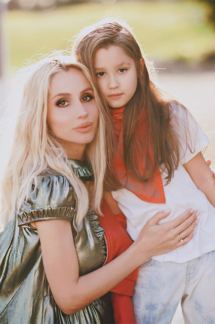 Svetlana Loboda with her daughter Eva