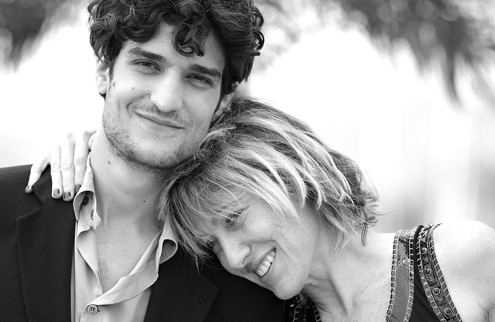 Луи Гаррель и Валерия Бруни-Тедески на фотоколле фильма «Замок в Италии», 2013