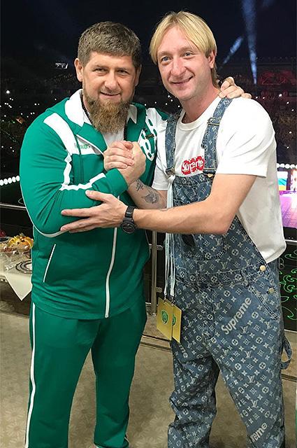Рамзан Кадыров и Евгений Плющенко
