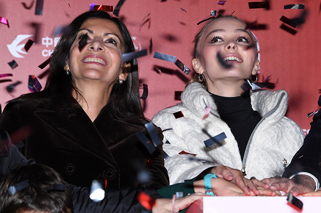 Paris Mayor Anne Hidalgo and Lily-Rose Depp