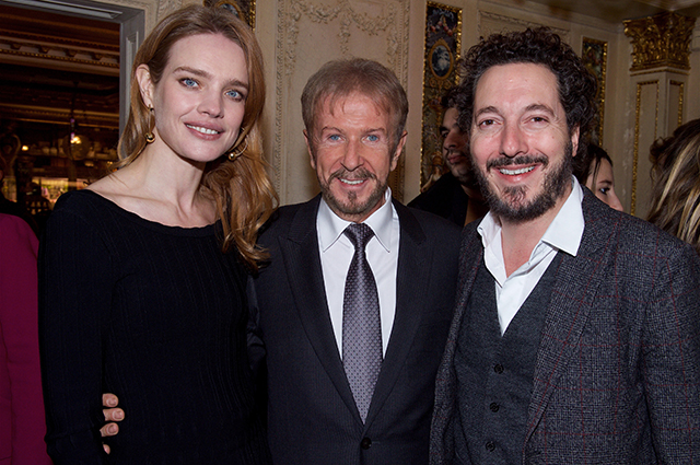 Natalia Vodianova, Andrei Dellos and actor Guillaume Gallienne