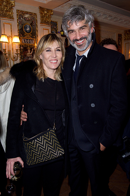 Actress Mathilde Seigner and TV presenter Francois Vinchentelli