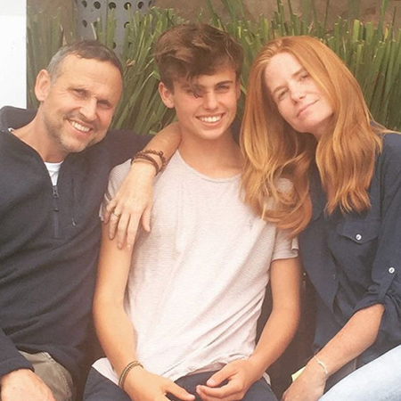 Fenton Marcellus with parents