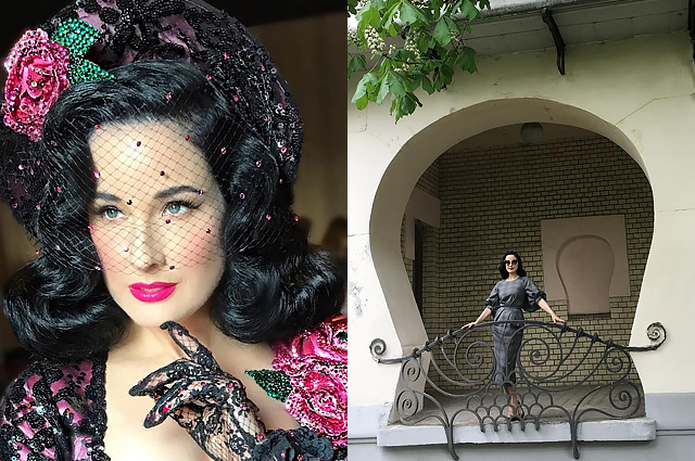 Dita von Teese in Moscow