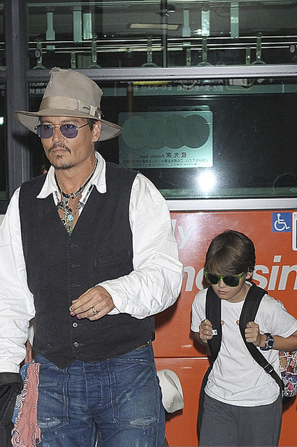 Johnny Depp and his son