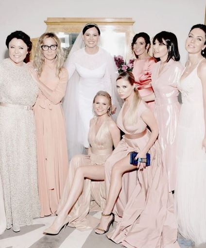 Oksana Lavrentieva and bridesmaids