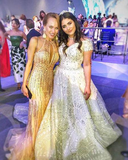 Bride with girlfriend