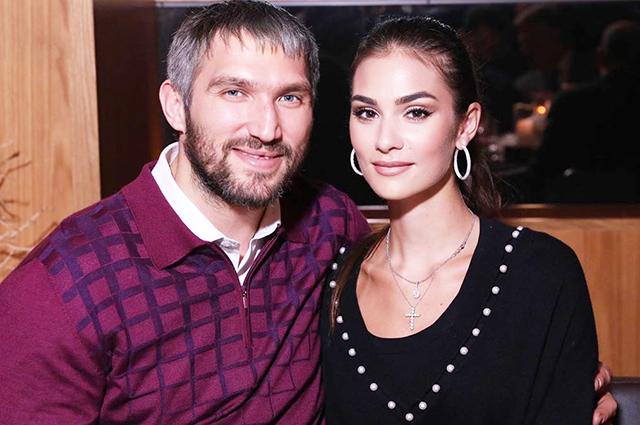 Alexander Ovechkin and Anastasia Shubskaya