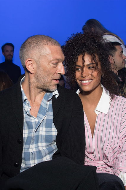 Vincent Cassel and Tina Kunakey