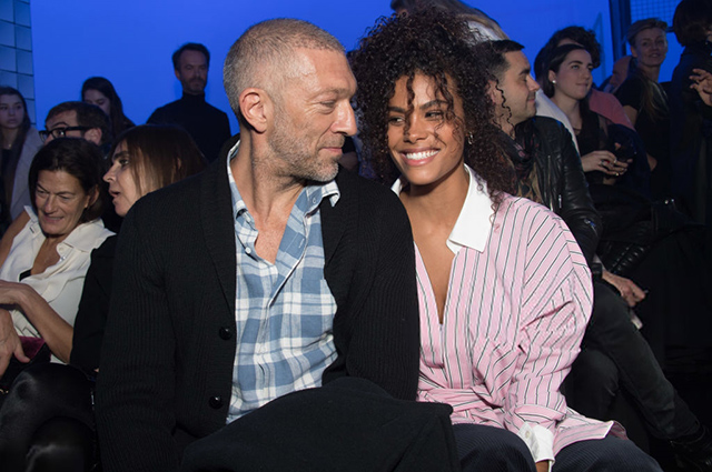 Vincent Cassel visited a fashion show with a young lover Tina Kunakey