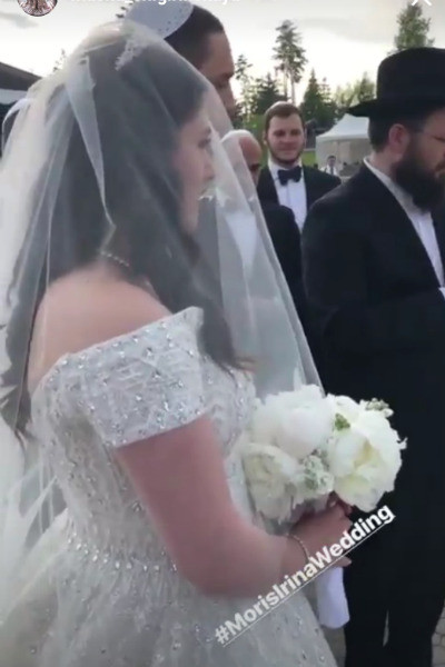 The bride and groom are Jews