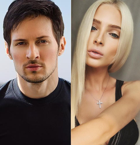 Pavel Durov and Alena Shishkova