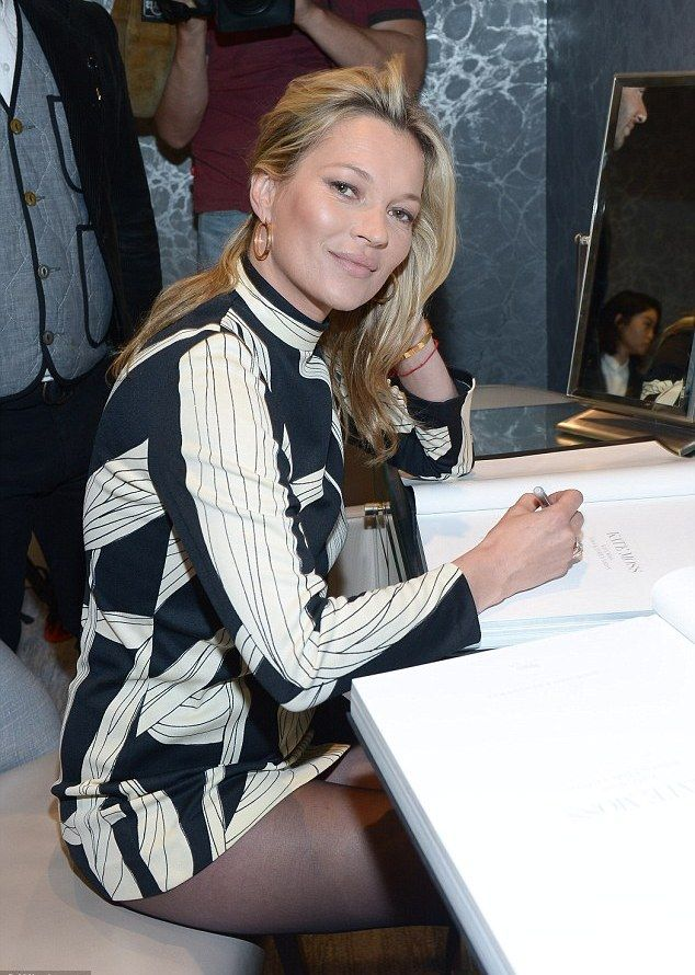42-year-old Kate Moss appeared in mini to match her young boyfriend