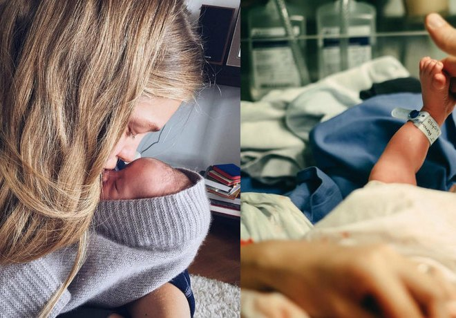 Vodianova shows how she breastfeeds her newborn son Roman