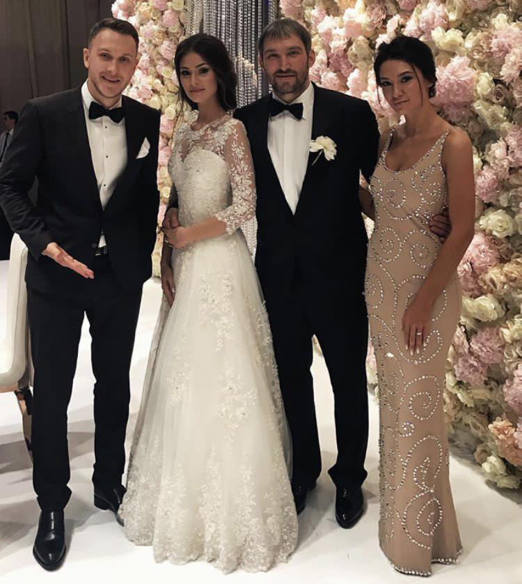 Rapper T-killah, Anastasia Shubskaya, Alexander Ovechkin and Maria Belova