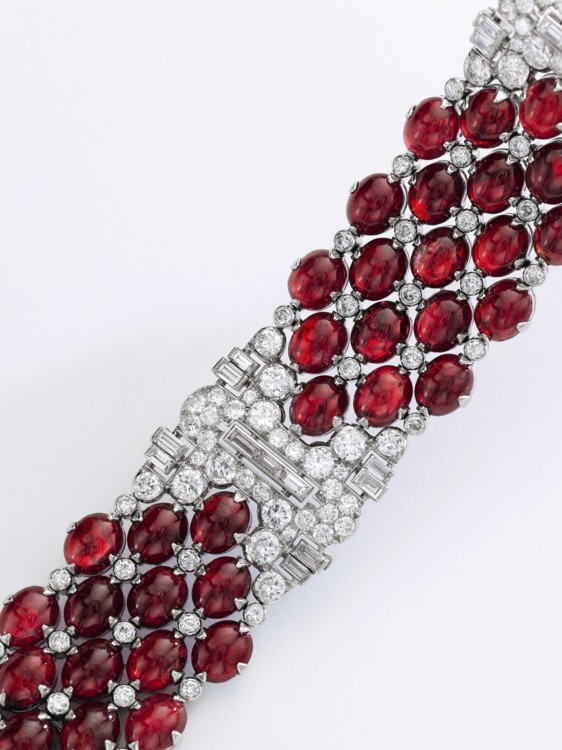 Ruby and diamond bracelet, Bulgari, Sotheby's
