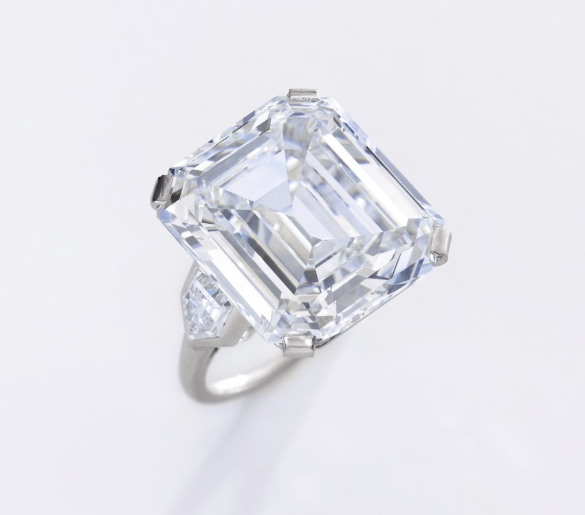 Important diamond ring D colour VS1 Clarity, Sotheby's