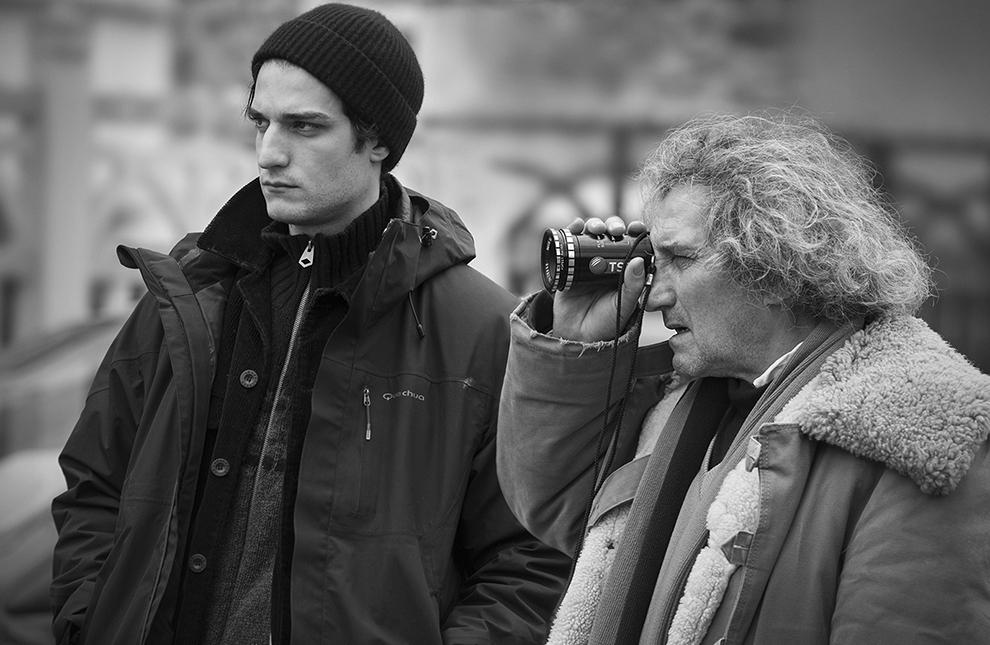 Филипп и Луи Гаррель на съемках фильма «Ревность»