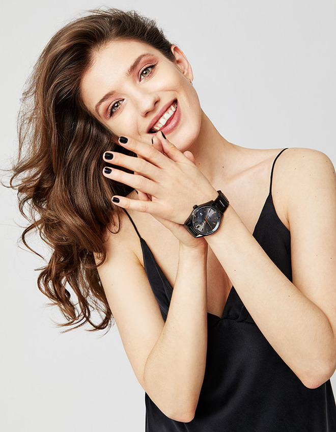 TAG Heuer new brand ambassador Actress Anna Chipovskaya wears TAG Heuer Connected Modular 45