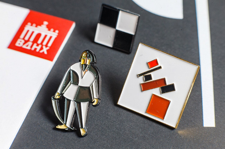 "Kazimir Malevich inspired jewelry by ""Heart of Moscow"""