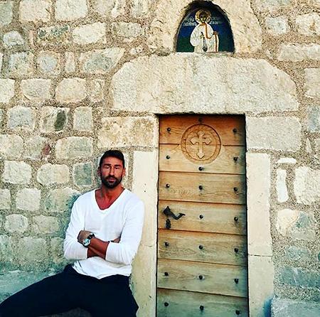 Марко Ярич на острове Святого Стефана