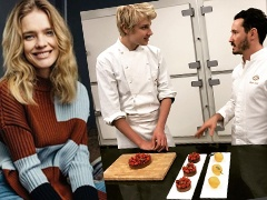 15-year-old son of Natalia Vodianova could become a model, but was carried away by cooking