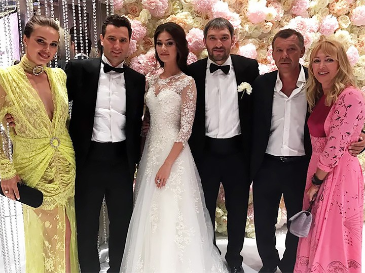 Galina Keda, Roman Rotenberg, Anastasia Shubskaya, Alexander Ovechkin, head coach of the Russian national ice hockey team Oleg Znarok and his wife Ilona