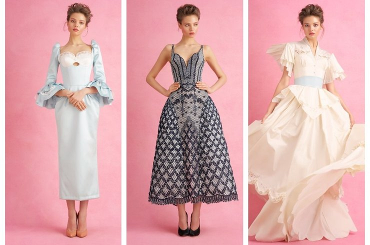 Alesya Kafelnikova starred for the new Ulyana Sergeenko Couture lookbook