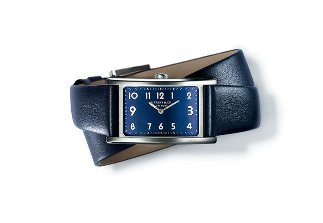 Tiffany-East-West-Mini-timepiece-in-stainless-steel-37-x-22-mm-quartz-movement-with-a-blue-dial-on-a-blue-calf-strap