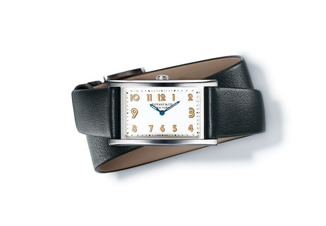 Tiffany-East-West-Mini-timepiece-in-stainless-steel-37-x-22-mm-quartz-movement-with-a-white-dial-on-a-black-calf-strap