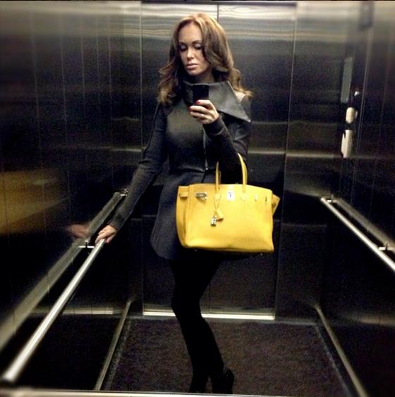 red brighton handbag - Luxury life of wives of Alexander Kokorin, Alexander Kerzhakov ...