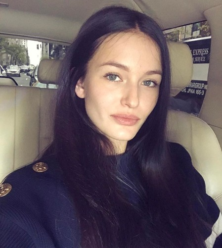 "Kristina Romanova tries to match up her boyfriend Vladislav Doronin and looks older with the help of dark ""aging"" hair color"