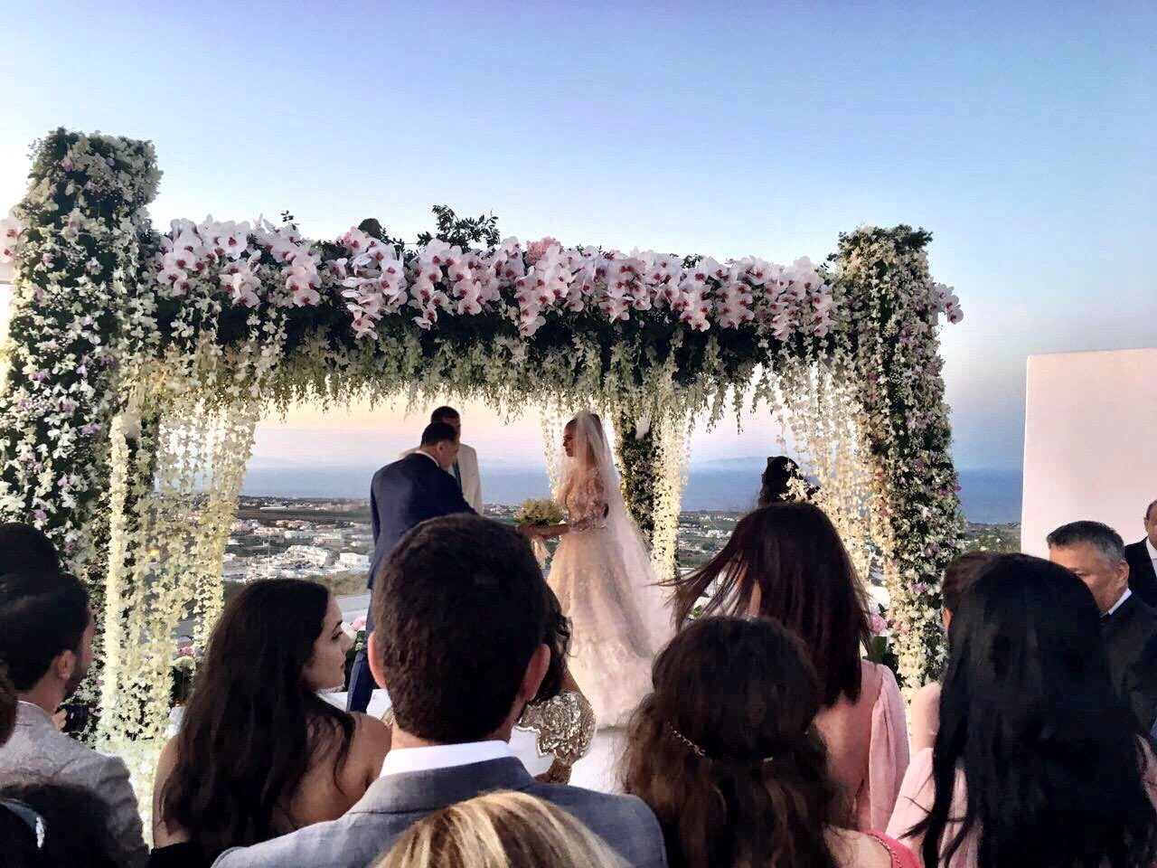 Wedding venue of Xenia Deli: Santorini