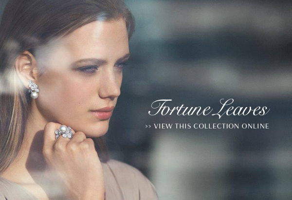 Find four-leaf clovers in the new Fortune Leaves collection by Mikimoto