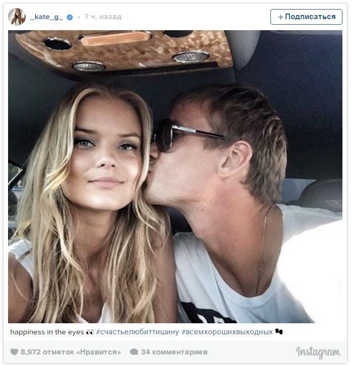Victoria secret model dating football player