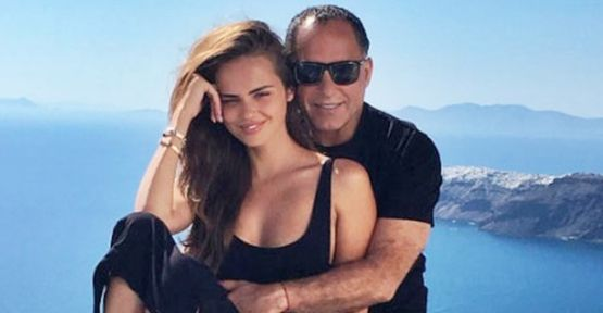 Xenia Deli with her husband 62-year-old Egyptian businessman Ossama Fathi Rabah Al-Sharif at Gaya Island Resort