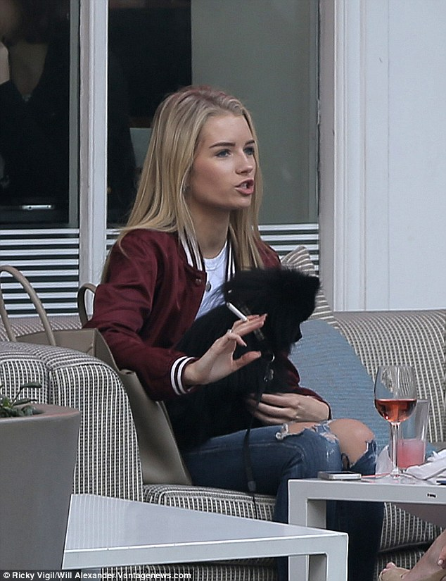 Moving on:Lottie first transformed into a cover girl for L'Officiel's March issue last month and in the accompanying interview, she explained she feels 'no pressure' to live up to Kate's legacy