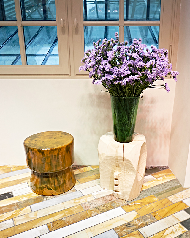 Celine Paris HQ — Flowers on stools