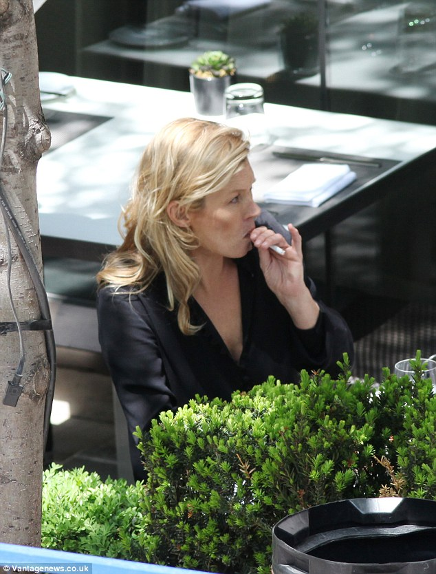 Crafty! Kate is known to smoke away and makes no secret of her habit