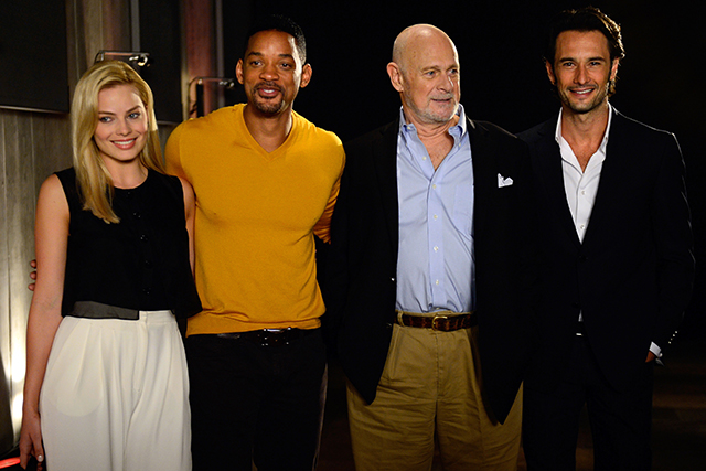 At a 'Focus' session with Will Smith, Gerald McRaney and Rodrigo Santoro in Buenos Aires, November 20 2013