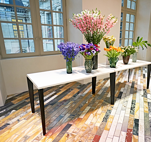 Celine Paris HQ — Flowers on tables